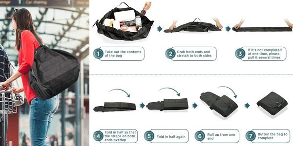 Bolsa de compra Plegable Lavable Grande EasyAcc chollo en Amazon