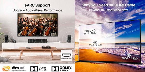 Cable HDMI 2.1 iVANKY 8K 60 Hz de 1 metro barato