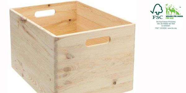 Cajón multiusos de madera Zeller 13143 chollo en Amazon