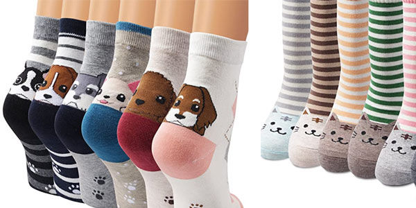 Calcetines de animales Ambielly unisex en oferta en Amazon