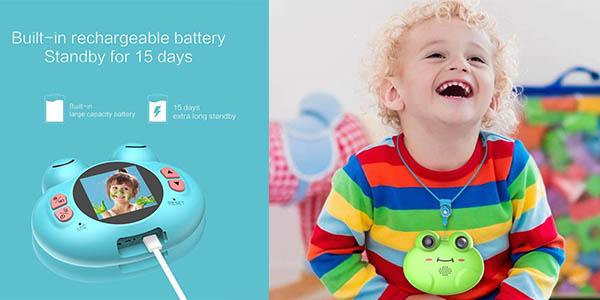 cámara de fotos digital infantil CamKing con cupón descuento en Amazon
