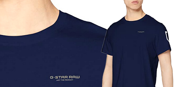 Camiseta de manga corta G-STAR RAW Sleeve Shield para hombre chollo en Amazon