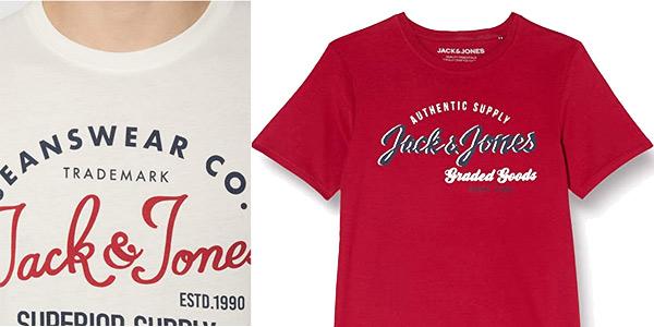Camiseta de manga corta Jack & Jones Jjelogo tee chollo en Amazon