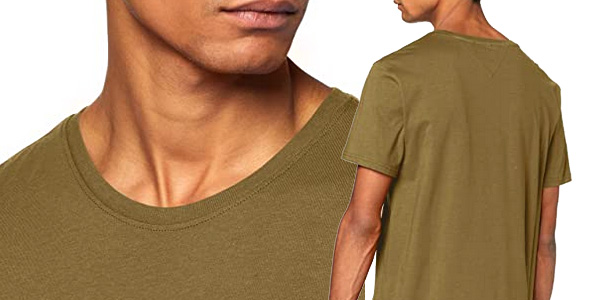 Camiseta de manga corta Tommy Hilfiger TJM Essential Solid tee para hombre chollo en Amazon