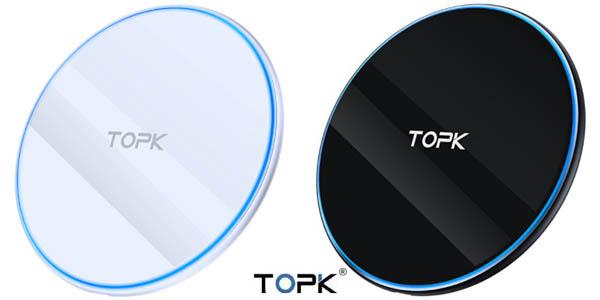 Cargador inalámbrico Topk de 10 W con tecnología Qi