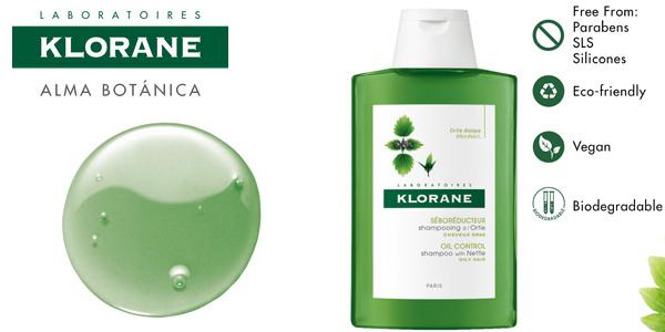 Champú a la ortiga de Klorane para cabellos grasos de 400 ml barato en Amazon