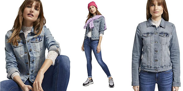 Chaqueta vaquera Tom Tailor Denim para mujer barata en Amazon