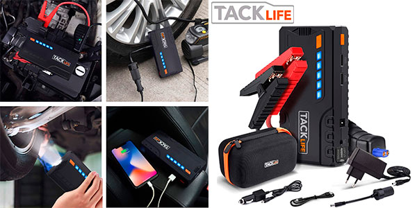 Chollo Arrancador de coche Tacklife T6 de 18.000 mAh