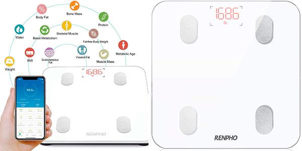 Chollo Báscula inteligente Renpho con Bluetooth y análisis IMC