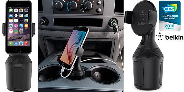 Chollo Soporte Belkin de smartphone para portavasos de coche