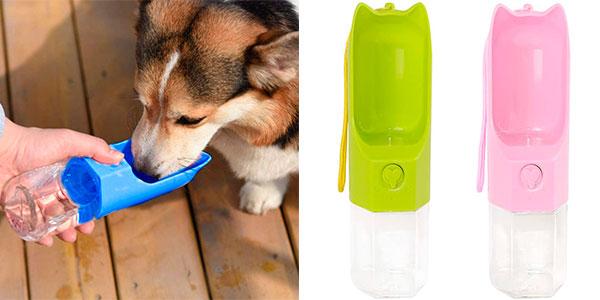 Chollo Botella dispensadora de agua Suntapower de 270 ml para perros