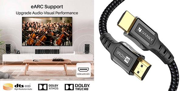 Chollo Cable HDMI 2.1 iVANKY 8K 60 Hz de 1 metro