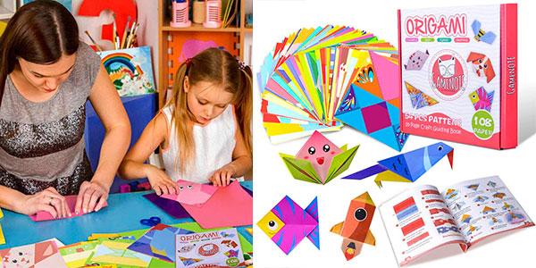 Chollo Kit de origami Gamenote con 118 hojas para niños