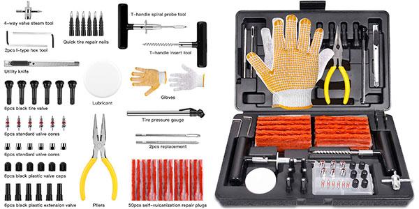 Kit de reparación de neumáticos de 100 piezas