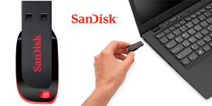 Chollo Memoria USB 2.0 SanDisk Cruzer Blade de 128 GB