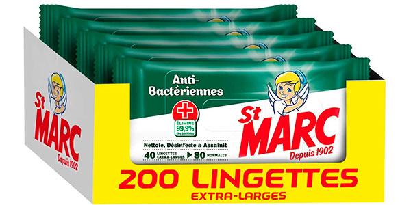 Chollo Pack de 200 toallitas desinfectantes St Marc
