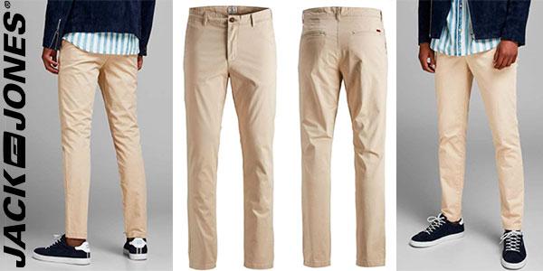 Chollo Pantalones chinos slim Jack & Jones Marco Bowie para hombre