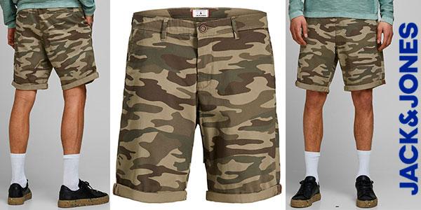 Chollo Pantalones cortos chinos Jack & Jones de camuflaje para hombre