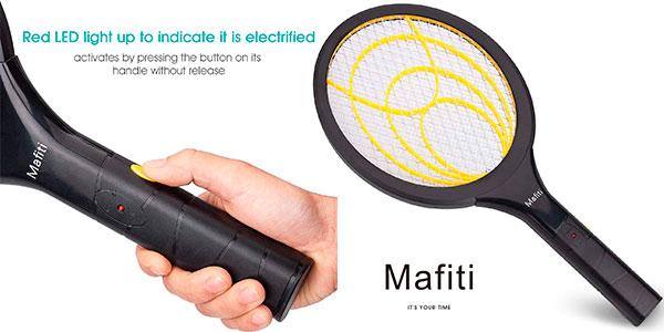 Chollo Raqueta eléctrica matamoscas y matamosquitos Mafiti