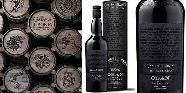 Chollo Whisky Oban Bay Reserve The Night's Watch Edición Limitada Juego de Tronos de 700 ml