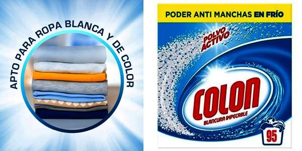 Colon detergente para ropa blancura total en caja de 95 lavados oferta
