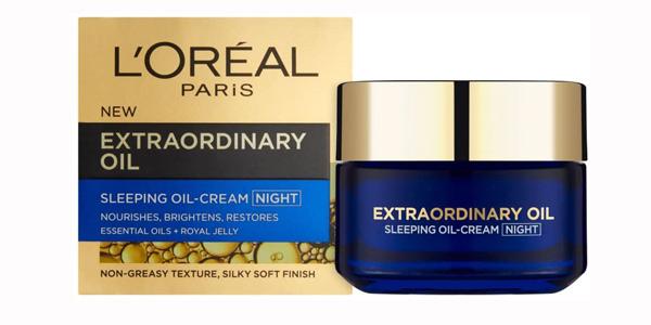 Crema de noche Extraordinary Oil L'Oréal Paris Skin Expert de 50 ml barata en Amazon