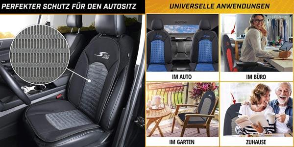 Cubierta asiento coche Walser Car Comfort S-Race 11652 estilo deportivo oferta en Amazon