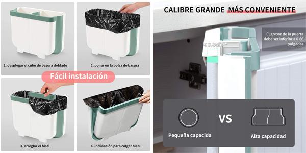 Cubo contenedor colgante para cocina Aoweika de 13 L chollo en Amazon