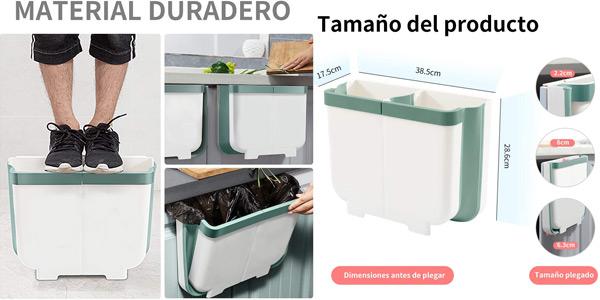 Cubo contenedor colgante para cocina Aoweika de 13 L chollazo en Amazon
