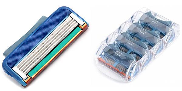 Pack 4 Cuchillas de afeitar para Gillette Fusion
