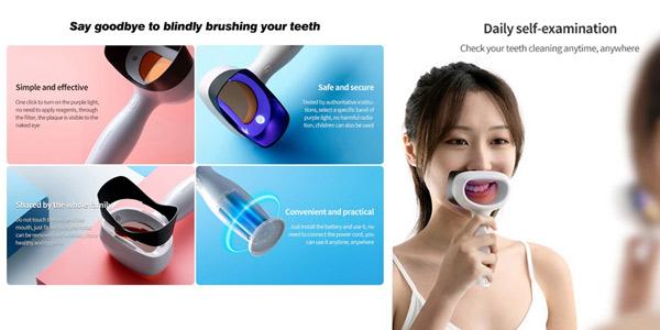 Detector de placa dental Xiaomi DR.BEI YMYM YD1 oferta en AliExpress
