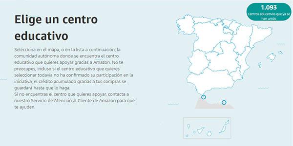 donación de compras en Amazon para centros educativos de España