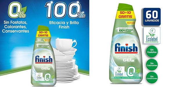 Finish Power Gel 0% lavavajillas barato