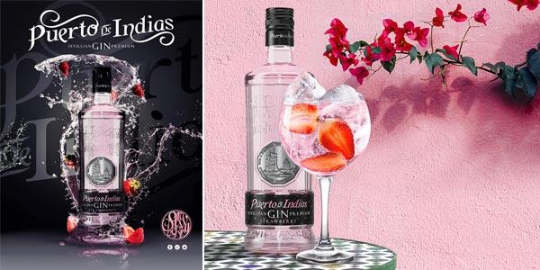 Ginebra premium Puerto de Indias Strawberry de 700 ml chollo en Amazon