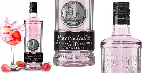 Ginebra premium Puerto de Indias Strawberry de 700 ml barata en Amazon