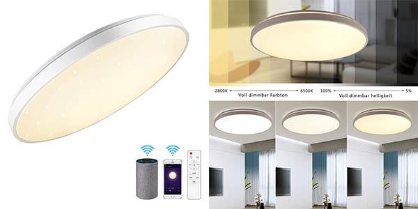 Jdong lámpara de techo de 24W con WiFi chollo