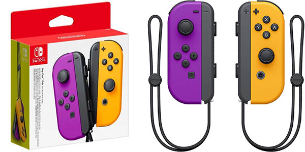 Set Joy-Con morado y naranja neón para Nintendo Switch