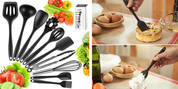 Juego de 10 utensilios de cocina Newdora barato en Amazon