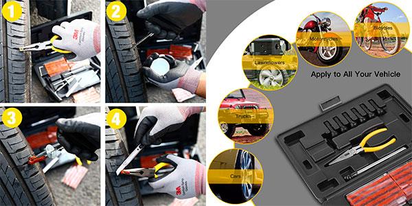 Kit de reparación de neumáticos de 100 piezas barato