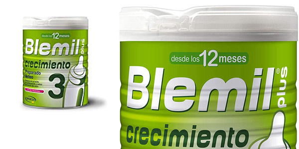 Leche de crecimiento Blemil Plus 3 desde los 12 meses 800 gr chollo en Amazon