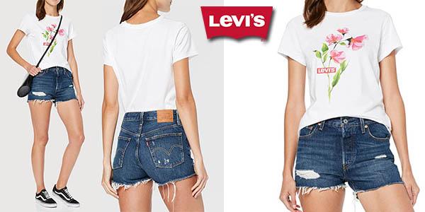 Chollo Pantalones Levi S 501 High Rise Short Para Mujer Por Solo 34 99 Con Envio Gratis 37