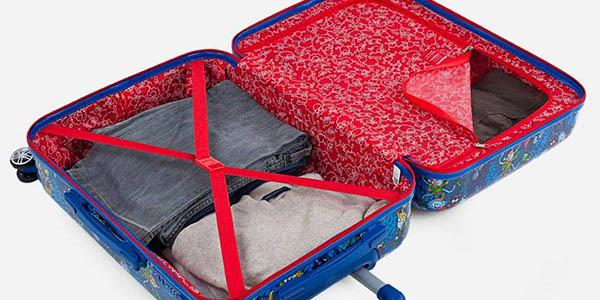 maleta de cabina Kukuxumusu Malos Mix con las medidas permitidas por las aerolíneas barata