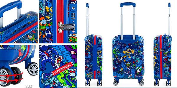 maleta de cabina Kukuxumusu Malos Mix oferta