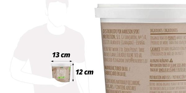 Mantequilla de cacahuete orgánica HSNBio Suave de 1 kg chollo en Amazon