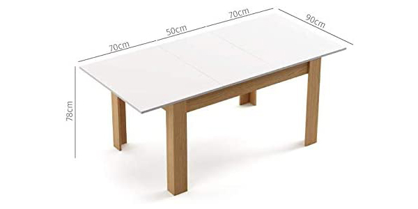 Mesa comedor extensible Mc Haus Grotta chollo en Amazon