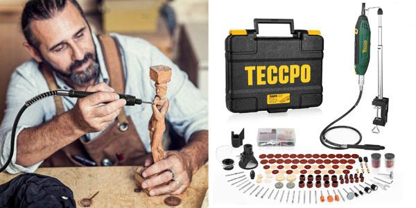 Mini amoladora eléctrica Teccpo de 200W + 120 accesorios barata en Amazon