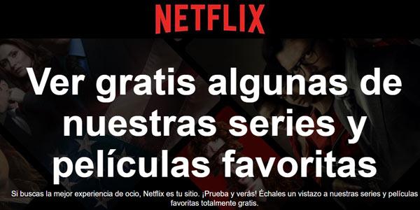 Netflix Watch Free series y películas gratis