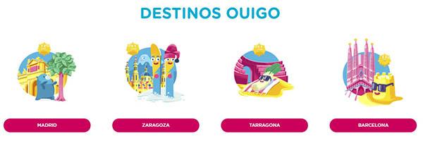 Ouigo destinos de viaje AVE bajo coste en España
