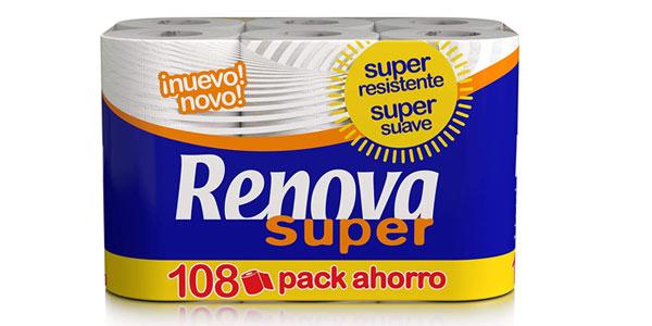 Pack 198 rollos Papel Higiénico Renova barato en Amazon