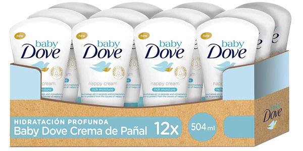 Pack x12 Crema de pañal Baby Dove hidratación profunda de 42ml/ud barato en Amazon
